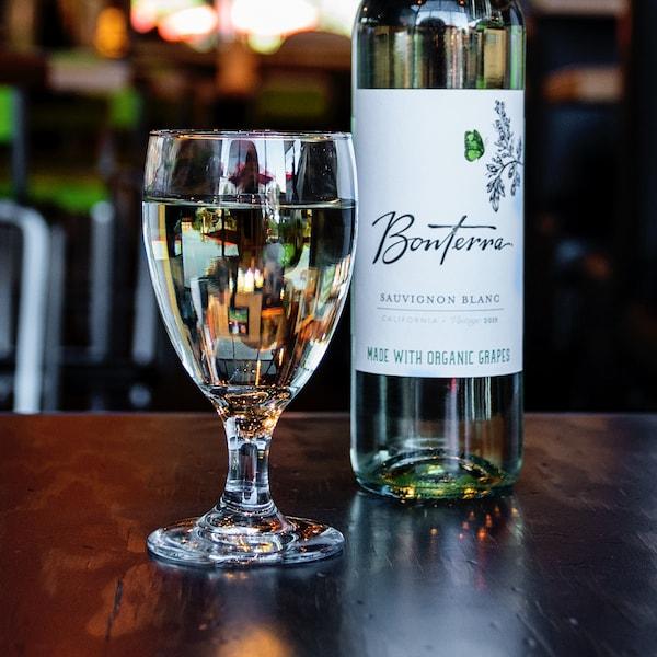 Bottle of sauvignon blanc.