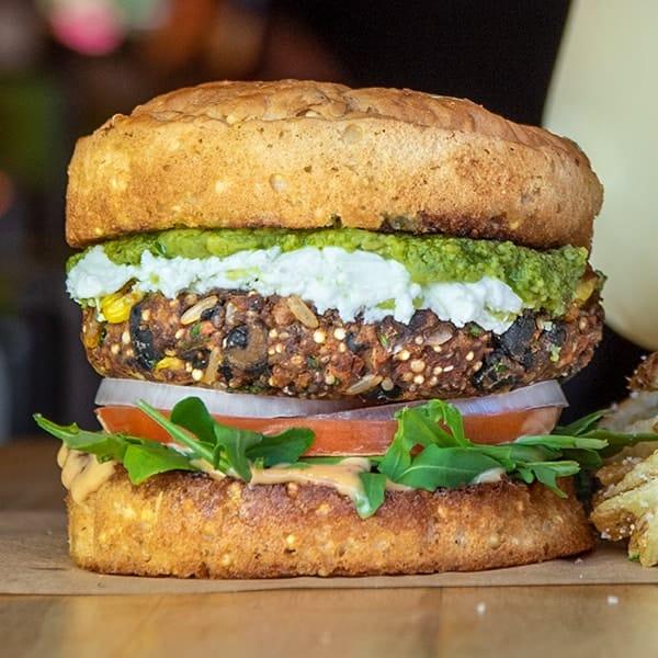 Gluten free El Bandito burger.