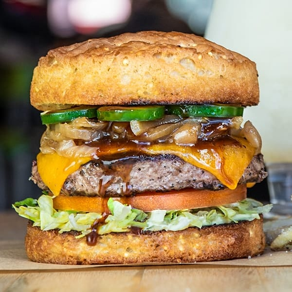 Gluten free Goodnight / Good Cause burger.