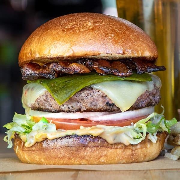Llano Poblano burger.