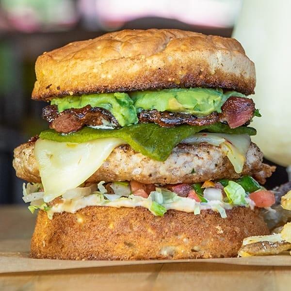 Gluten free Thunderbird burger.