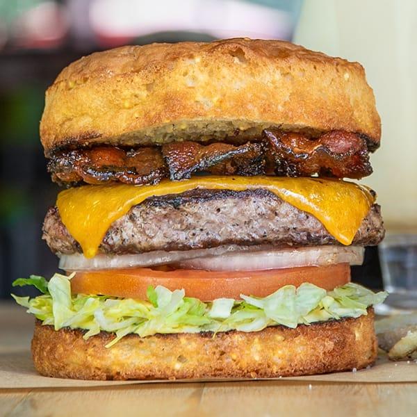 Gluten free The Classic burger.