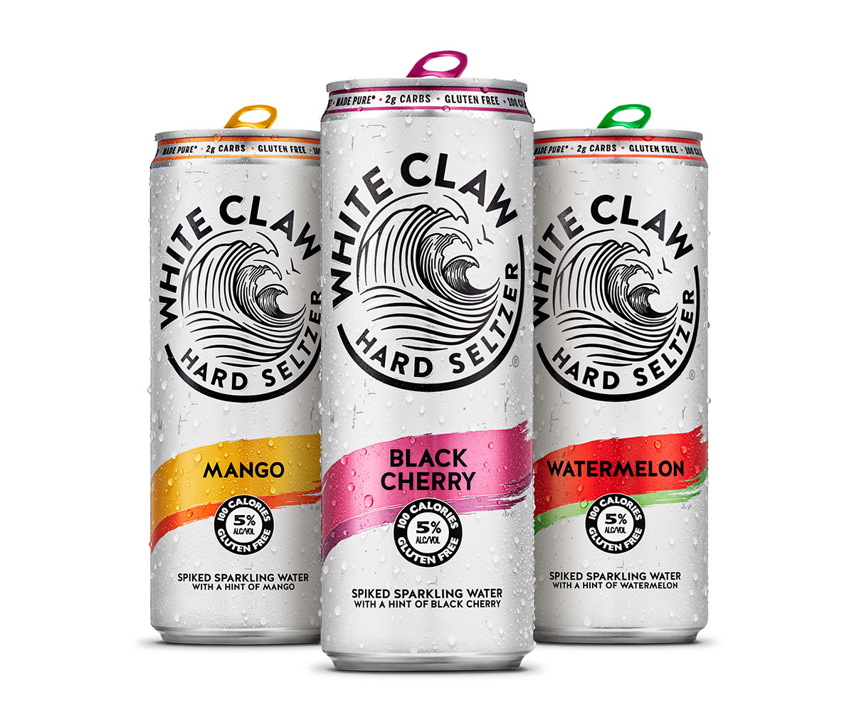 3 White Claw drinks.