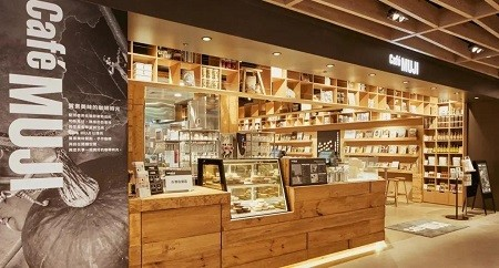 Cafe Muji store-front