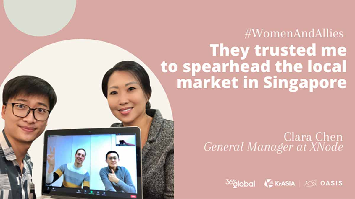 They trusted me to spearhead the local market in Singapore