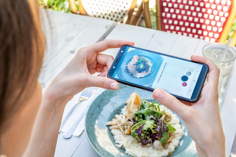 DiabTrend's food recognition feature for diabetic people