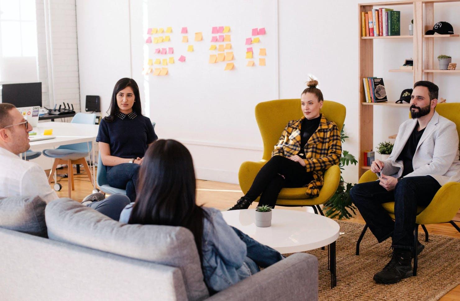 design team discussing process documentation