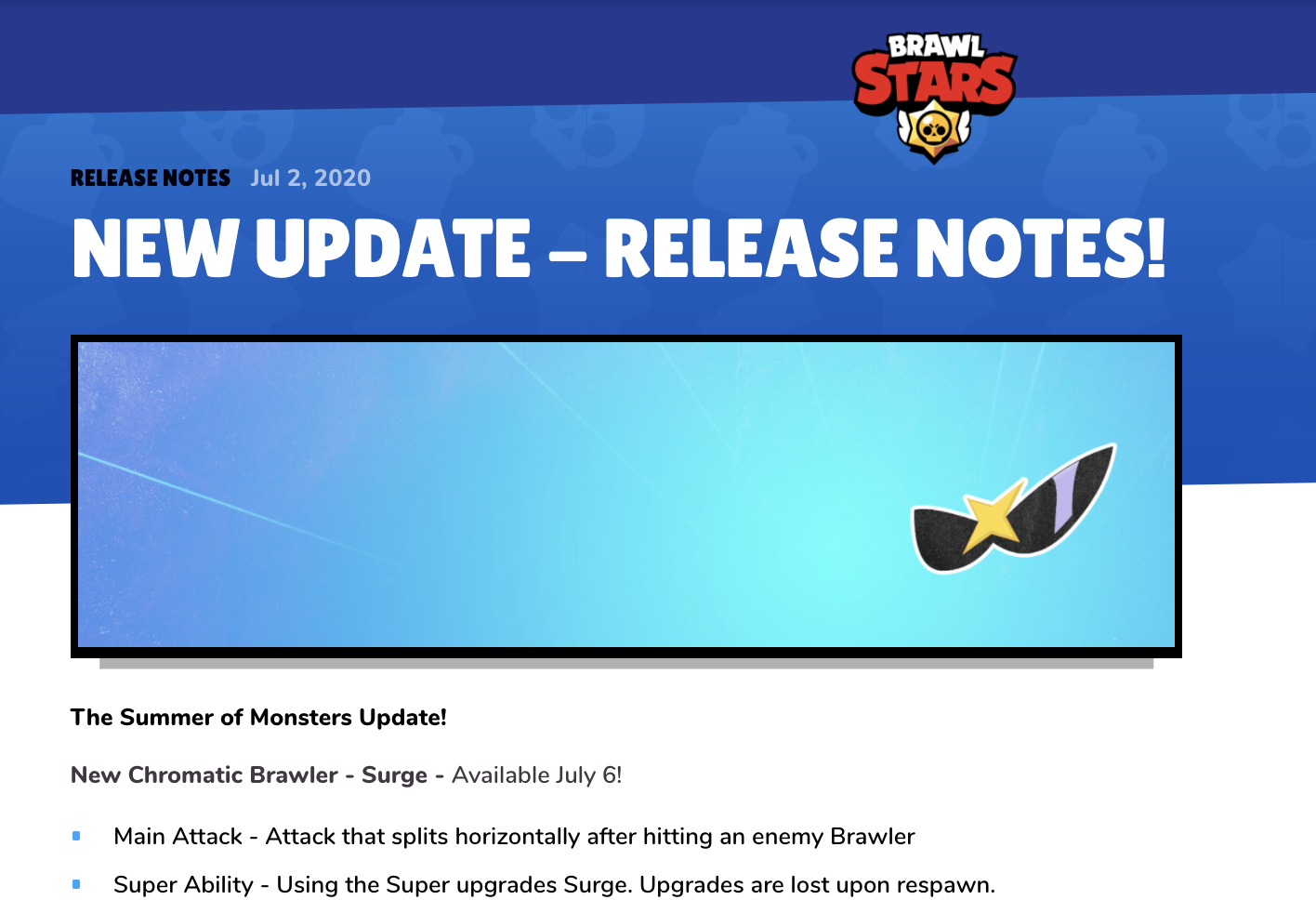 Brawl Stars Release Notes