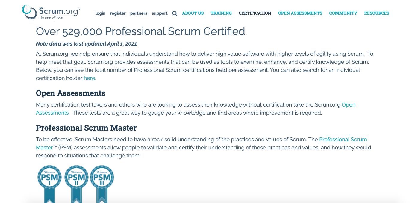 Professional Scrum Certification