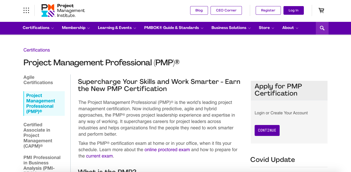 Project Management Professional Certificate