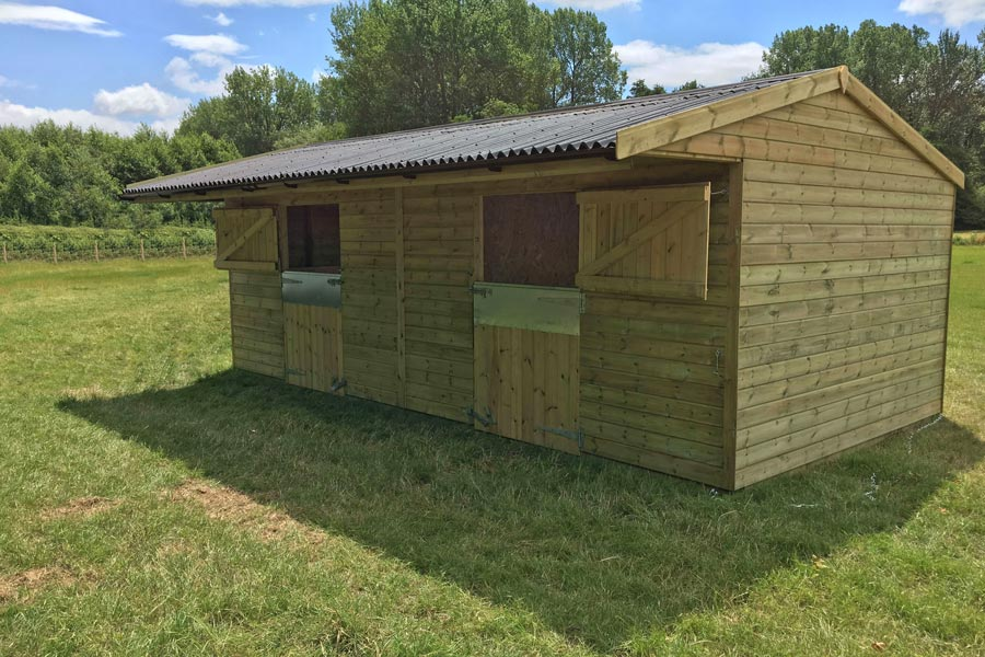 24' X 12' Double Mobile Stable Block