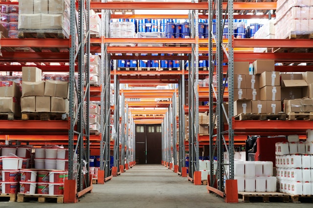 warehouse full of inventory