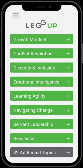 iphone mockup of coaching session topics