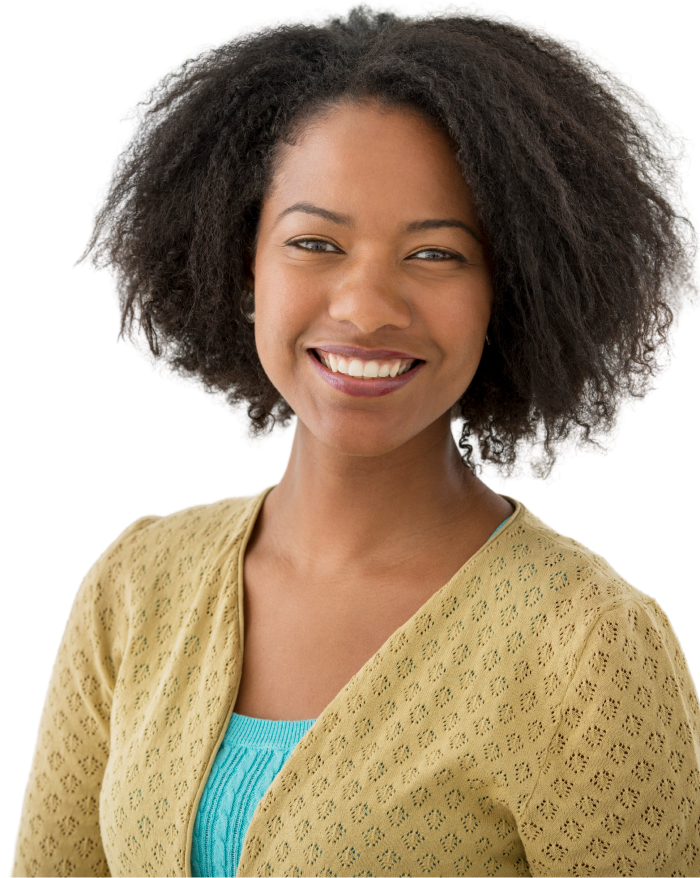 Smiling black female
