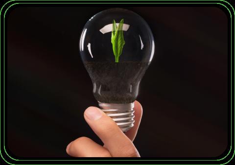man holding a lightbulb symbolizing future ideas