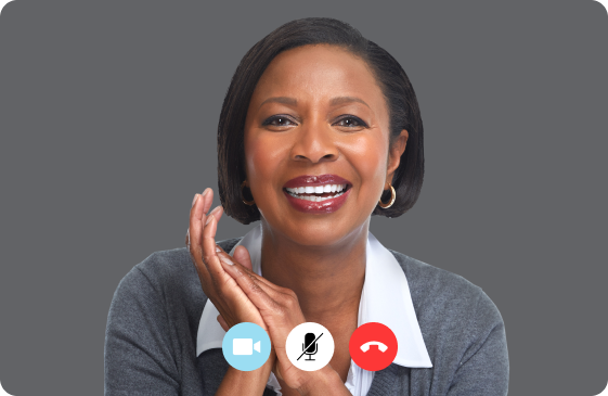 Zoom call with a female therapist