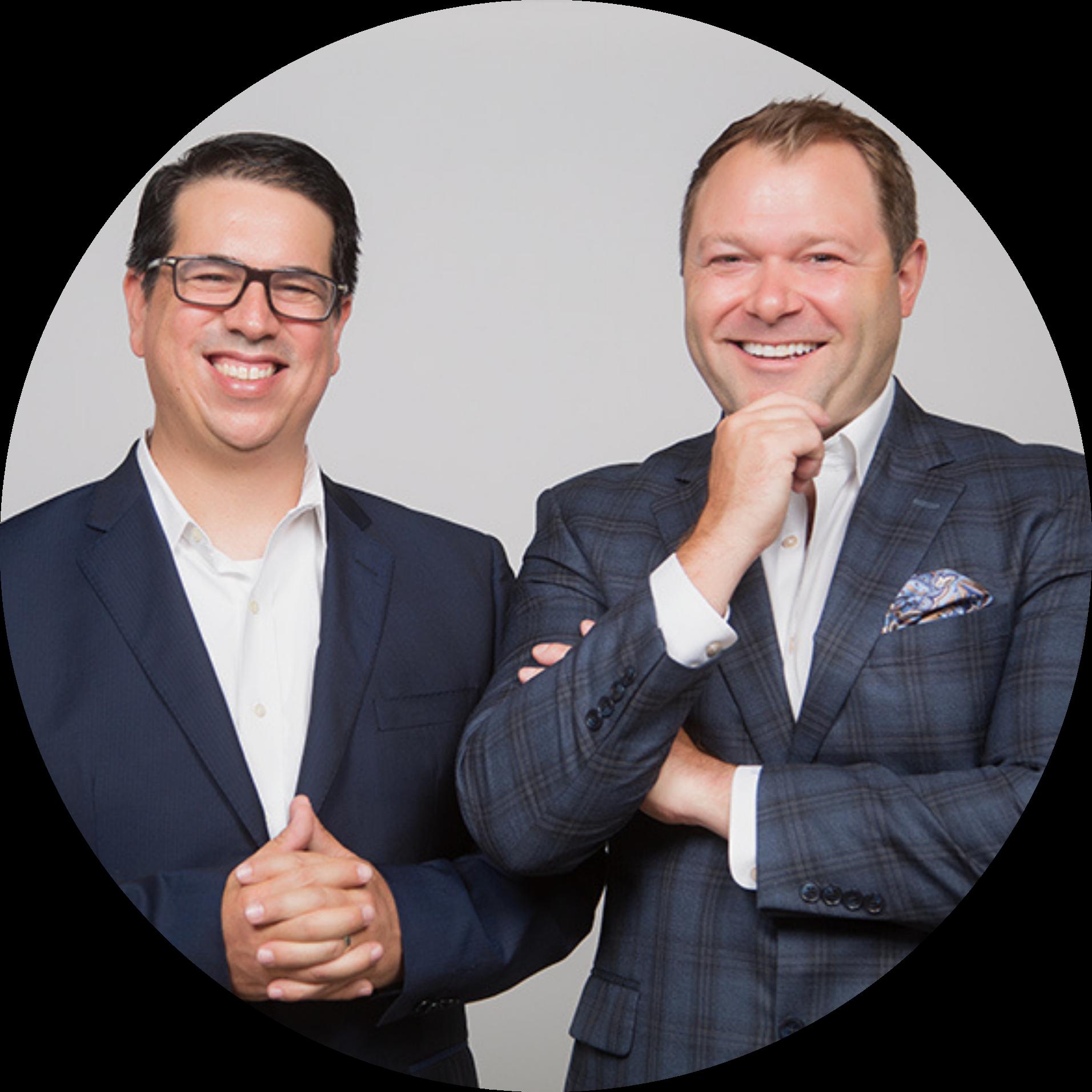 Picture of LeggUP Co-founders, Tom Finn and Viktor Bullain