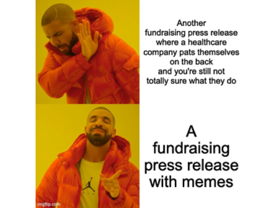 A press release with memes