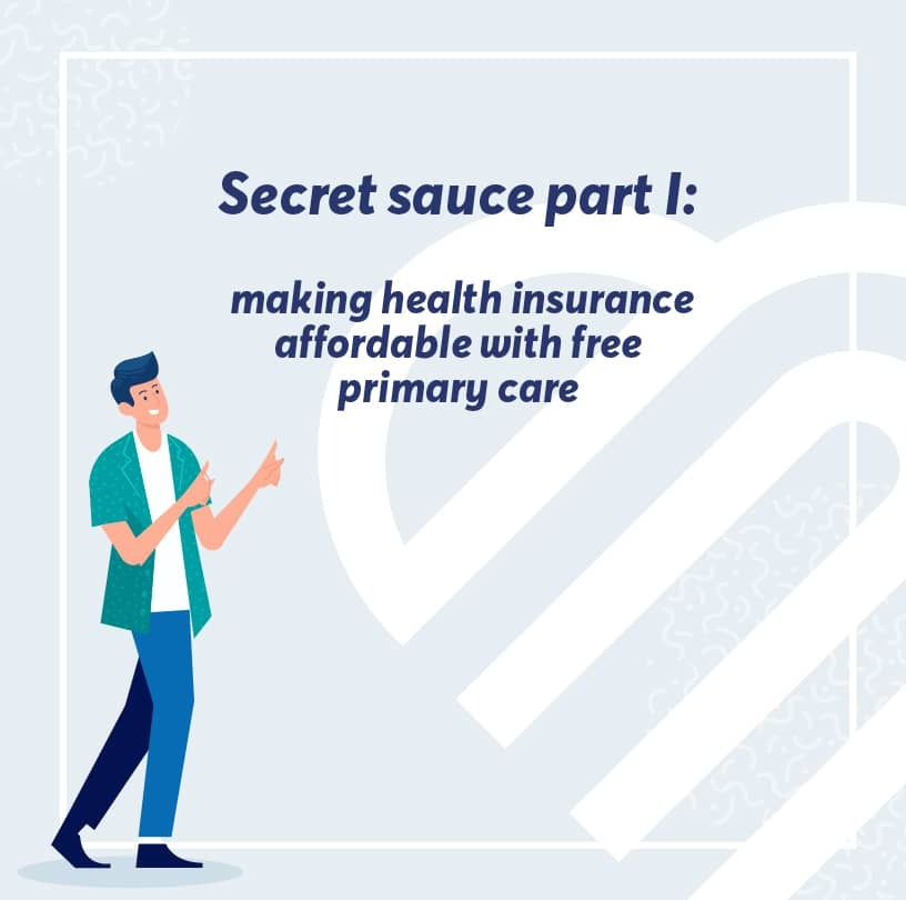 Why the secret to affordably insuring people is making their primary care free