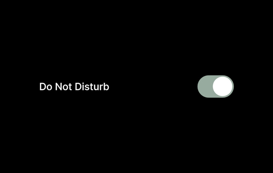 An iphone UI showing 'Do not disturb' tap