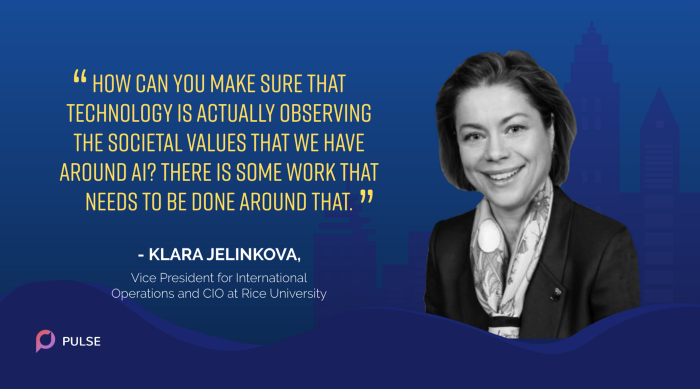 An image of Klara Jelinkova, CIO of Rice University