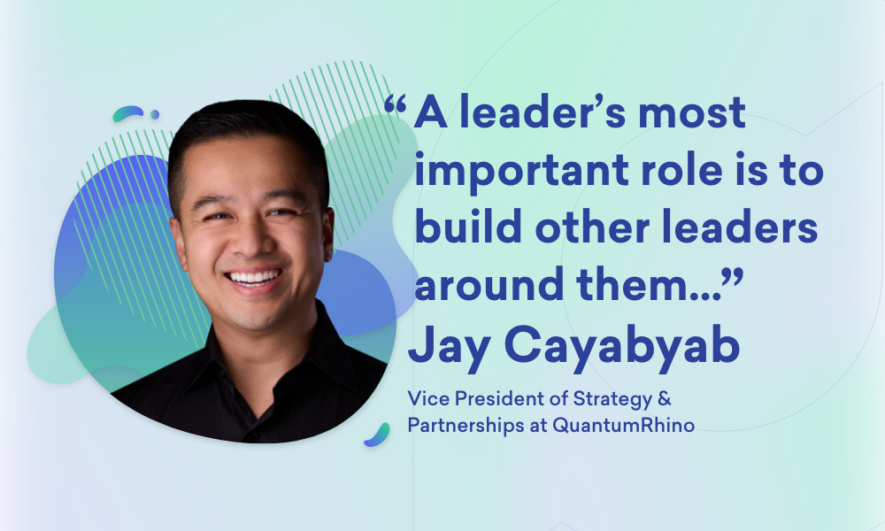 An image of Jay Cayabyab, VP of Strategy and Partnerships at QuantumRhino