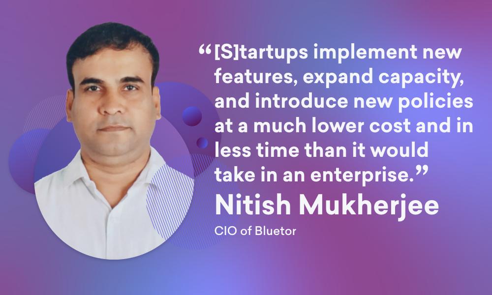 An image of Nitish Mukherjee, CIO of Bluetor.