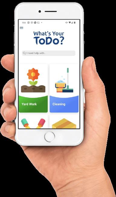 ToDoolie App in a Hand