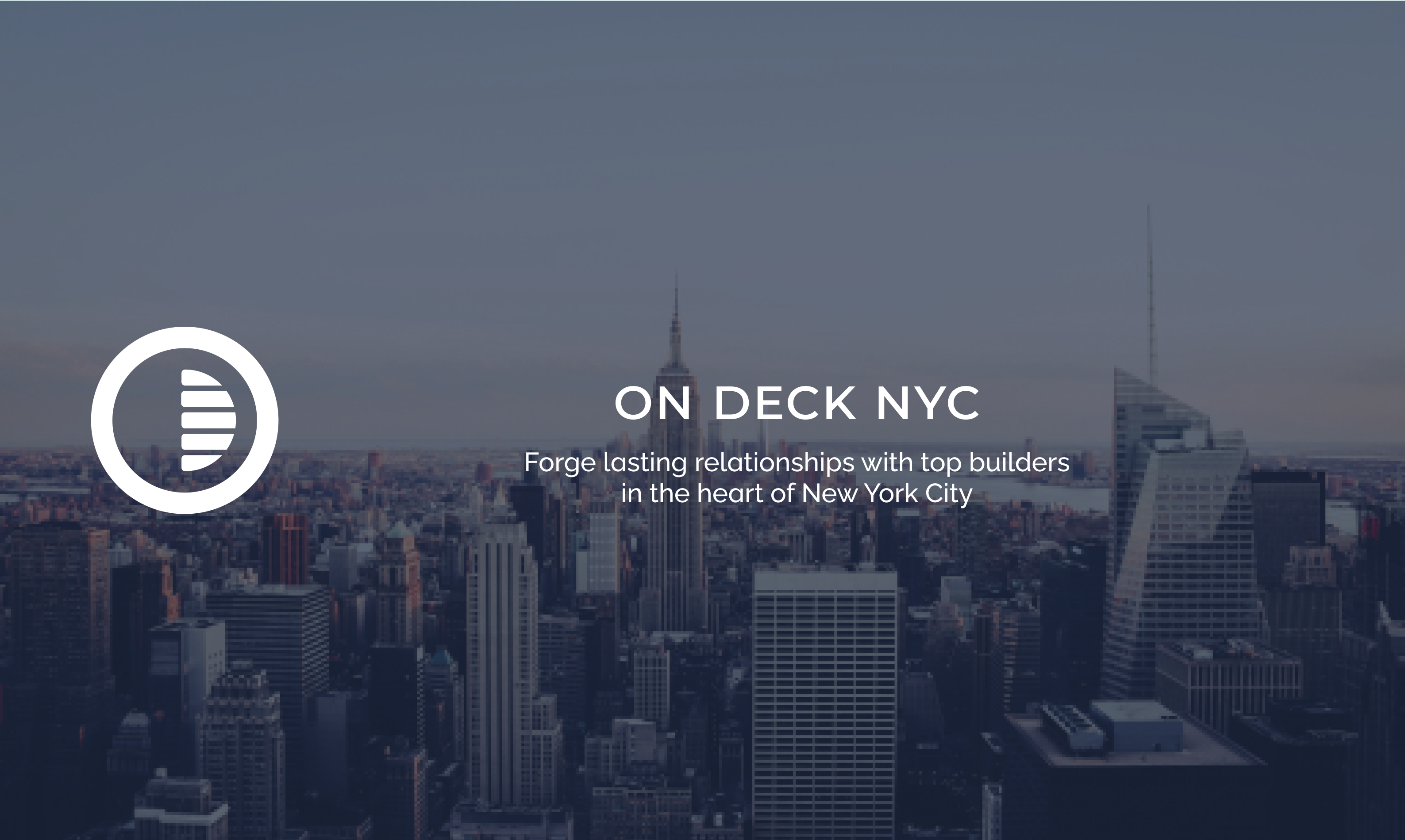 Announcing: Drop #2: On Deck NYC