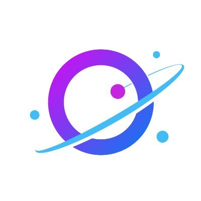 Logo of the company Orbit. A planet with different shades of purple and blue