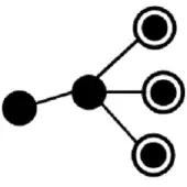 a black and white node connection