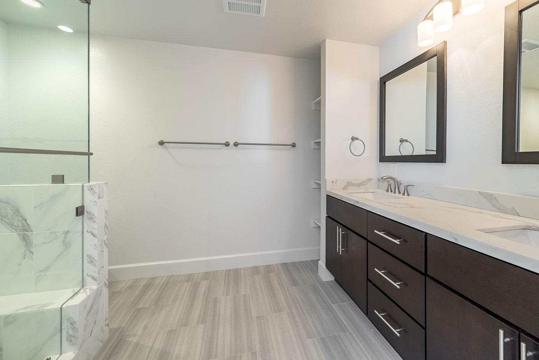 bathroom overview frameless shower glass
