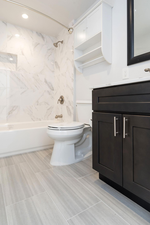 toilet and vanity area