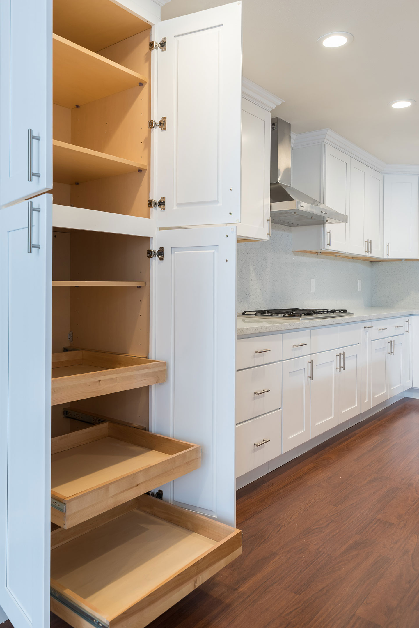 custom pullout cabinet drawers