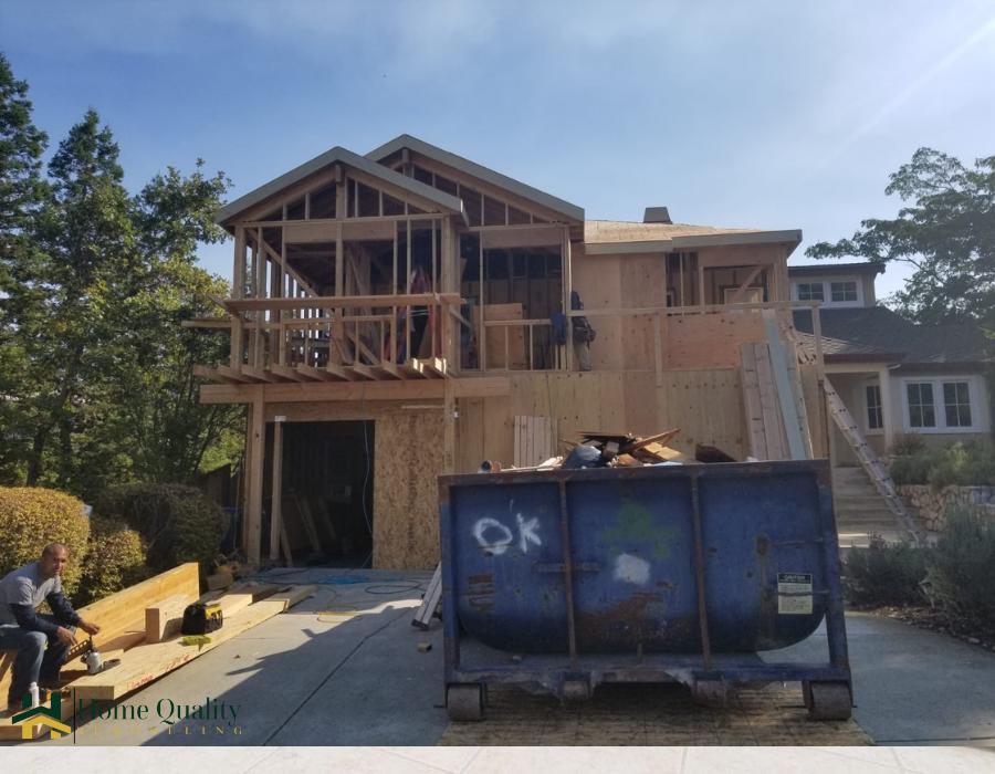 alamo home during construction