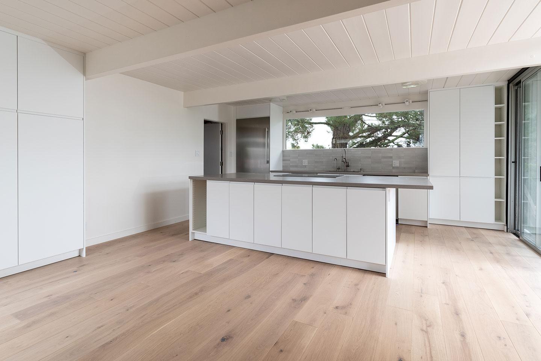 kitchen island with custom island cabinets