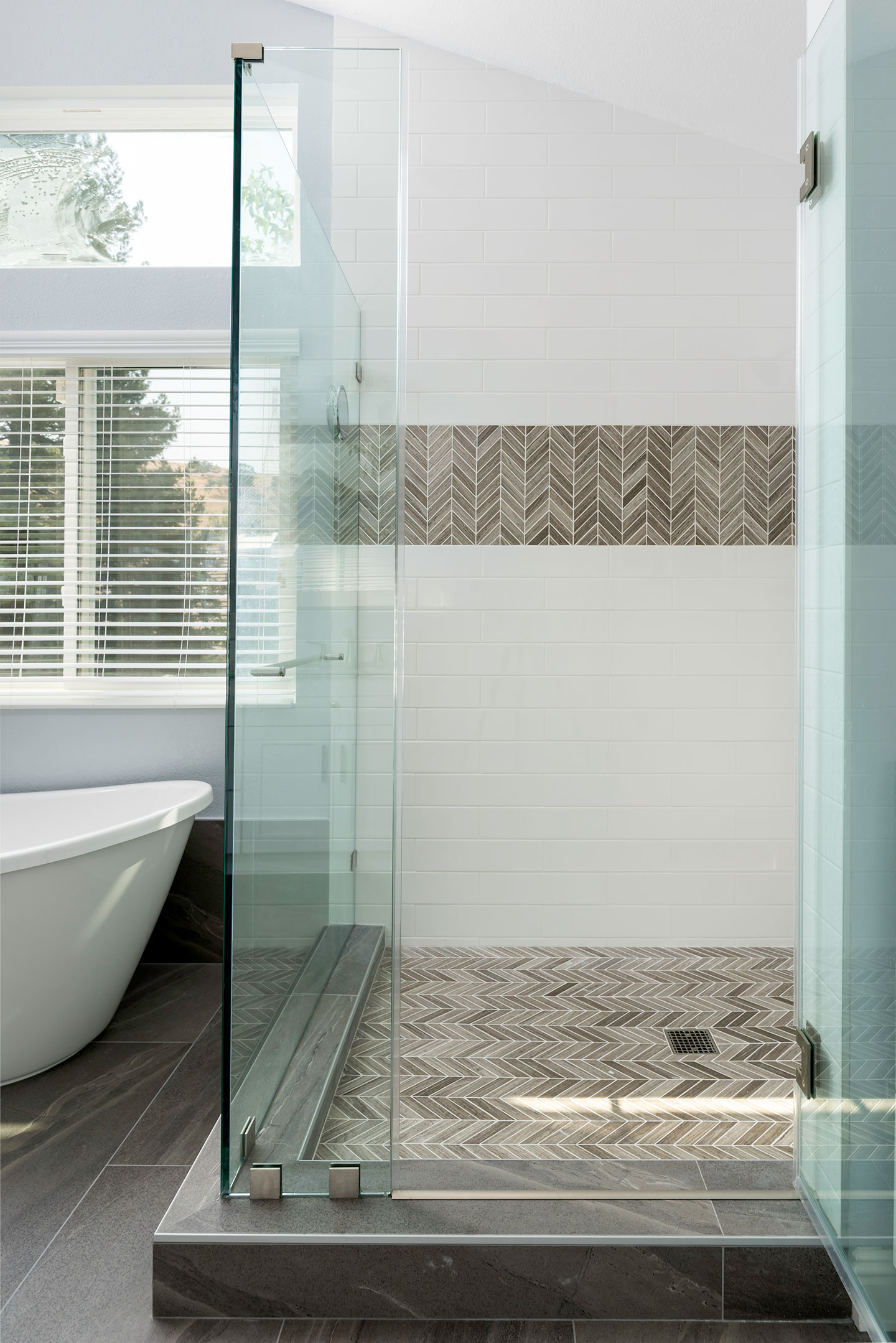 close up of the shower area