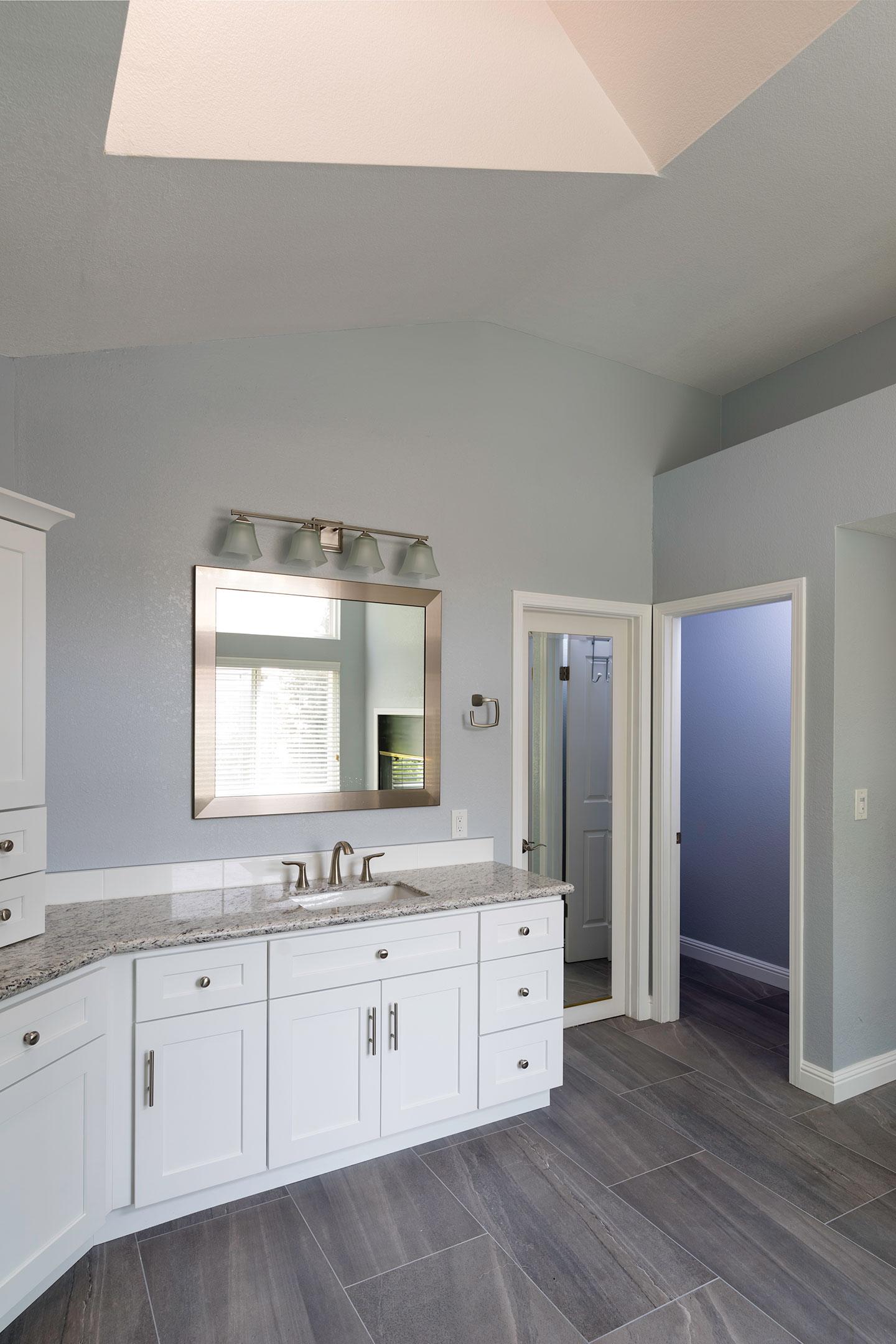Clayton bathroom overview with skylight overhead