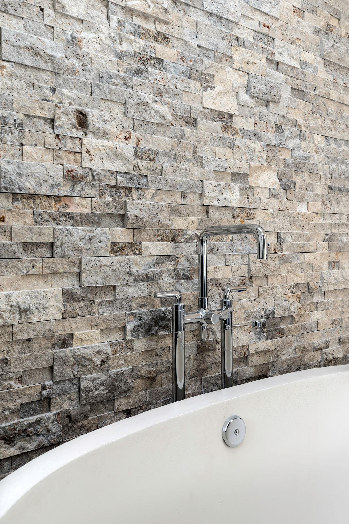 bathtub tiled wall