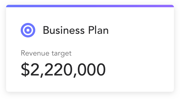 Plan revenue target