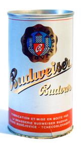 Plechovka piva Budvar - 70.léta