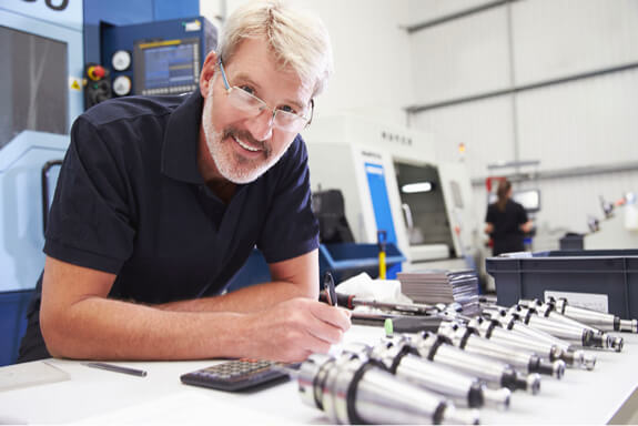 Man with engineered parts for invoice sales and funding