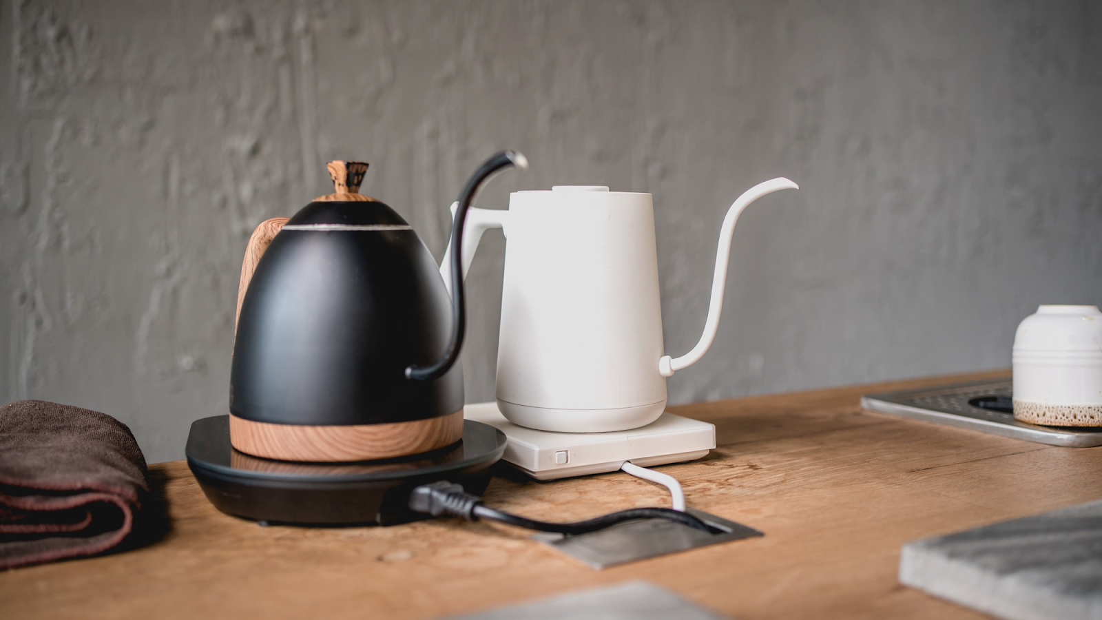 black and white drip coffee kettle stoves