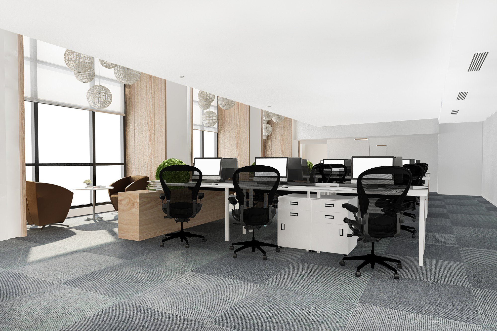 clean, natural-looking office