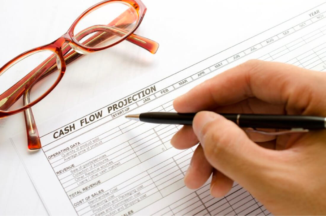 cash flow projection paper
