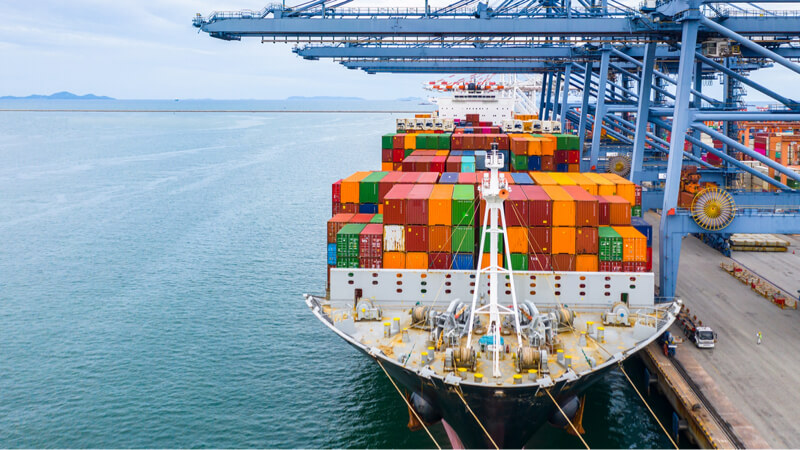 Export trade financing containers