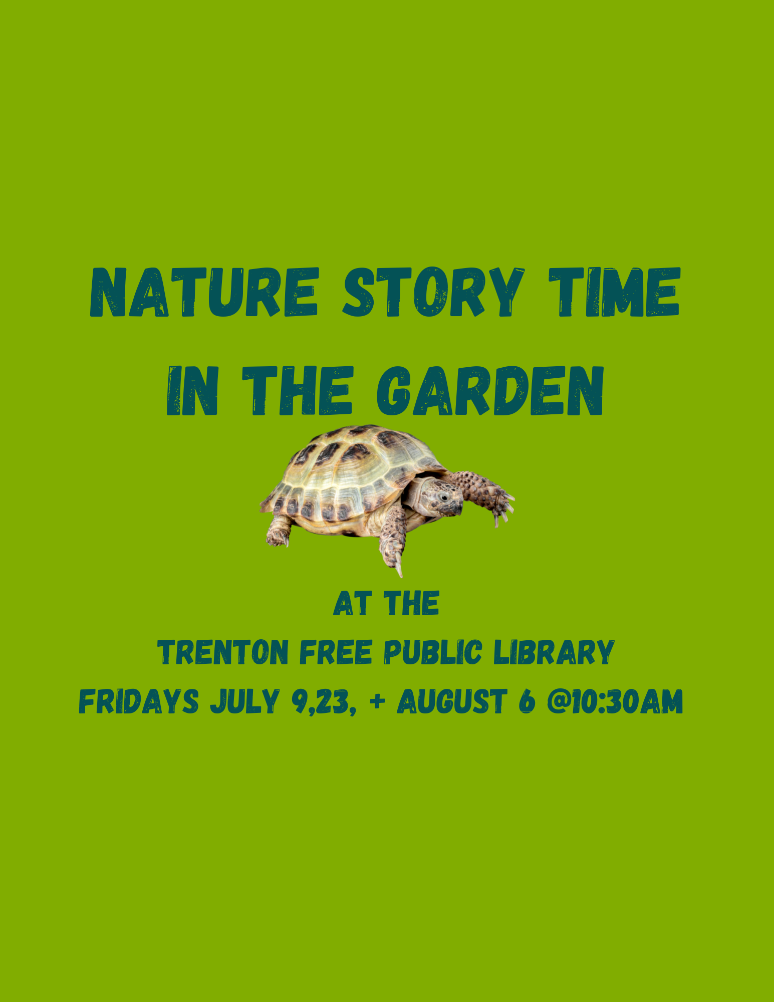 Nature Story Time in the Garden
