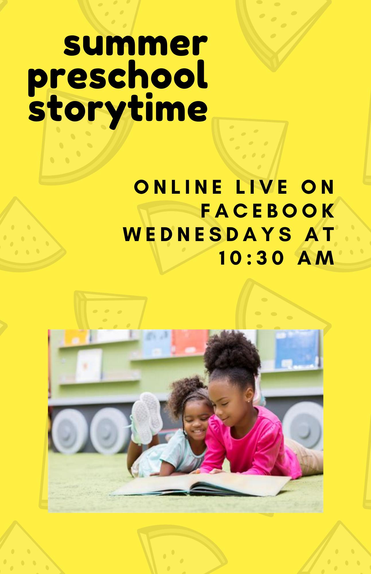 Summer Preschool Virtual Storytime