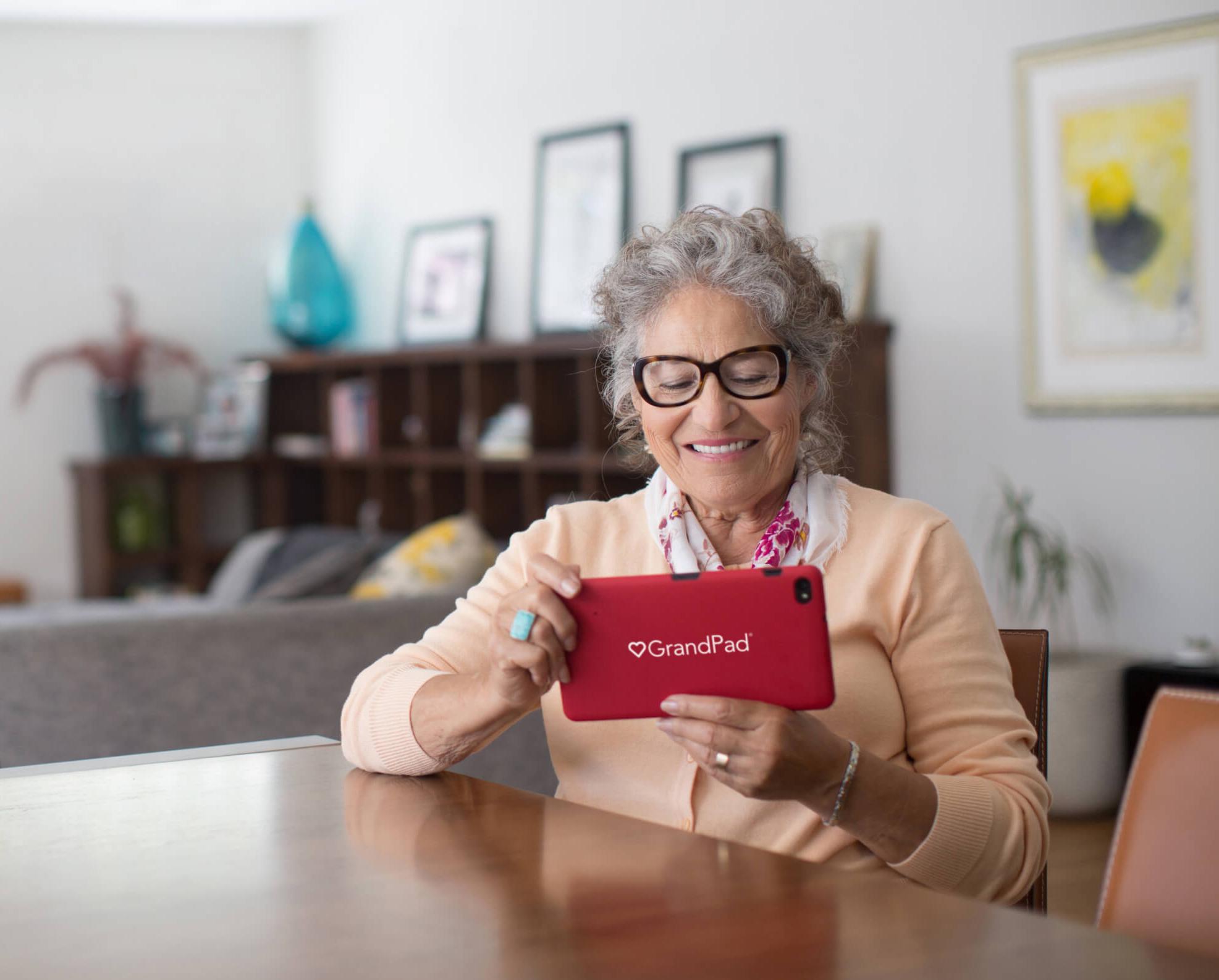 GrandPad user enjoying their GrandPad