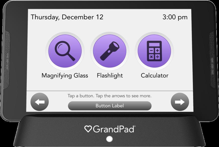 Toolbox app selector screen